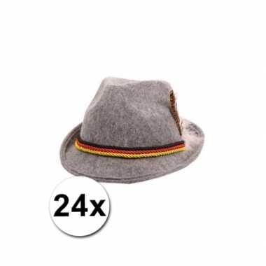 24 grijze tiroler hoedjes