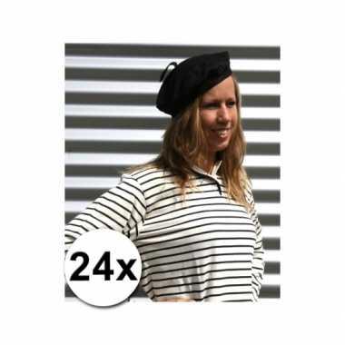 24x franse hoedjes volwassenen 59 cm