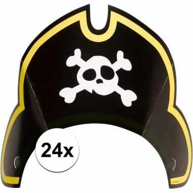 24x piraten themafeest feesthoedjes kapitein