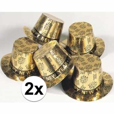 2x gouden hoed happy new year