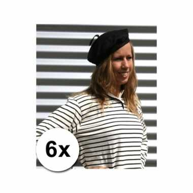 6x franse hoedjes volwassenen 59 cm