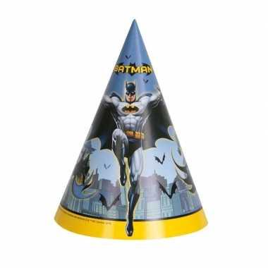 8x batman themafeest punthoedjes hoed