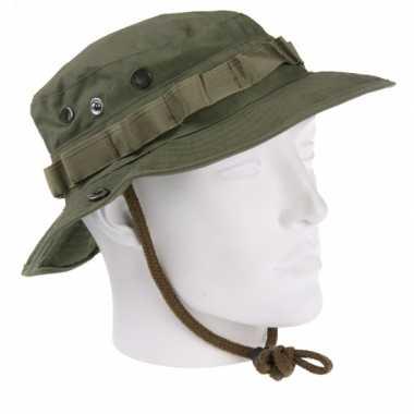 Armygreen vissershoedje hoed