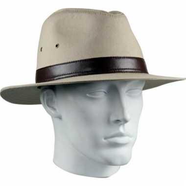 Beige cowboy hoed