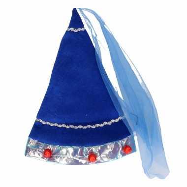 Blauw fee hoedje voor volwassenen