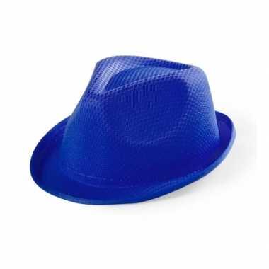 Blauw gleufhoedje voor kinderen hoed