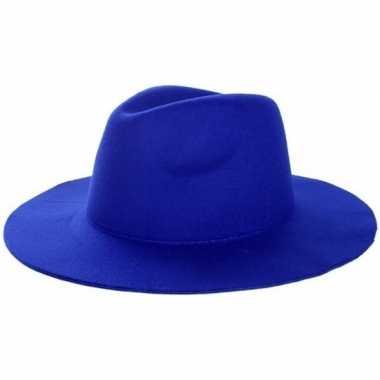 Blauwe cowboyhoed voor volwassenen