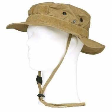Bush/ranger hoed beige voor volwassenen
