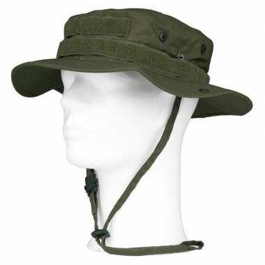 Bush/ranger hoed groen voor volwassenen