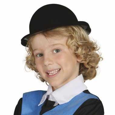 Carnavals kinder bolhoedje zwart hoed