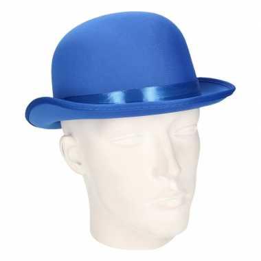 Carnavals luxe bolhoed blauw