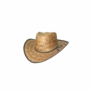 Cowboy hoed van stro