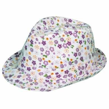Dames tribly hoedje met bloemen