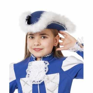 Dansmarieke hoed blauw voor meiden