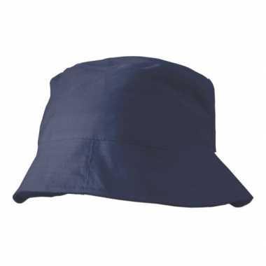 Donkerblauw vissershoedje/zonnehoedje voor volwassenen
