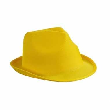 Feesthoedje geel thema