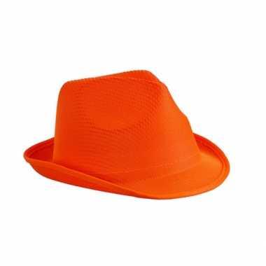 Feesthoedje oranje thema