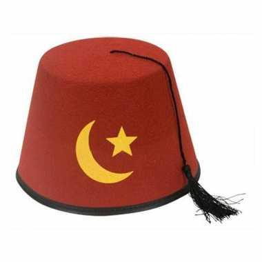 Fez hoed met afbeelding