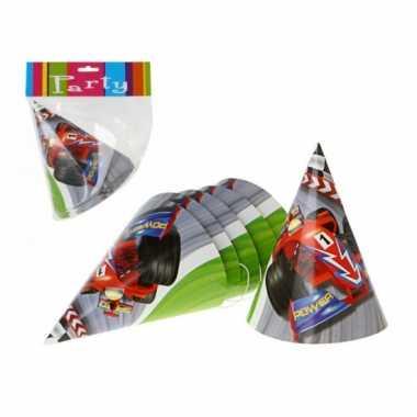Formule 1 feesthoedjes 6 stuks hoed