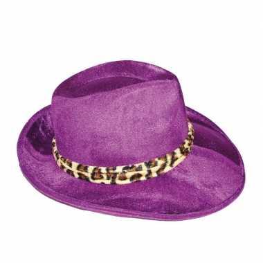 Gangsterhoed met luipaard rand hoed