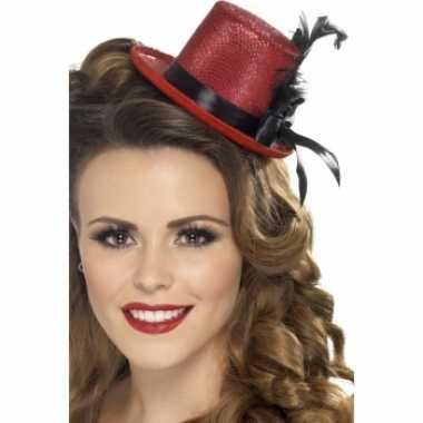 Gliter hoge hoed mini