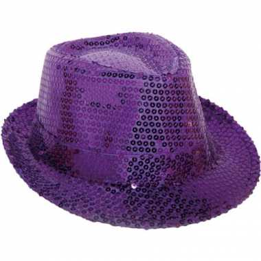 Glitter hoeden bling bling paars