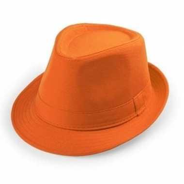 Goedkope oranje verkleed hoedjes voor volwassenen