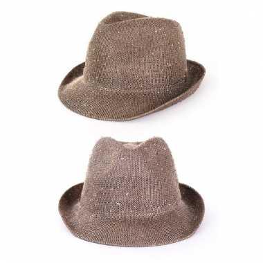Gouden glitter hoed voor volwassenen