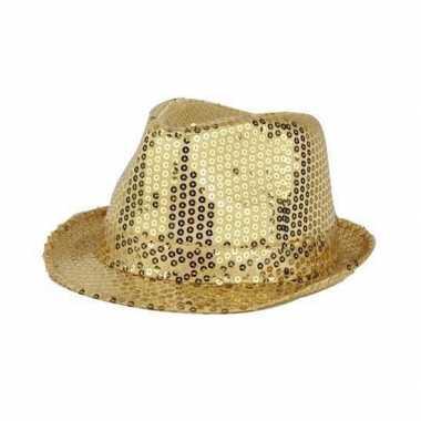 Gouden hoeden met glitters