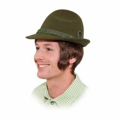 Groen tiroler hoedje voor volwassenen