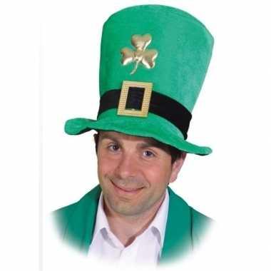 Groene hoge hoed sint patricks day