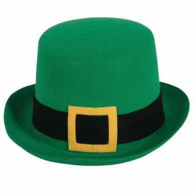Groene hoge hoed st. patricksday voor volwassenen