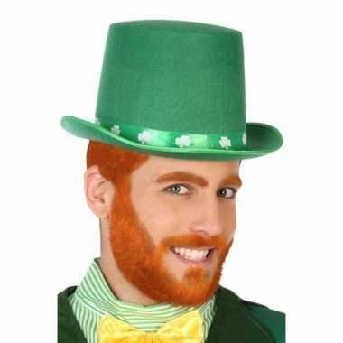 Groene hoge hoed voor heren