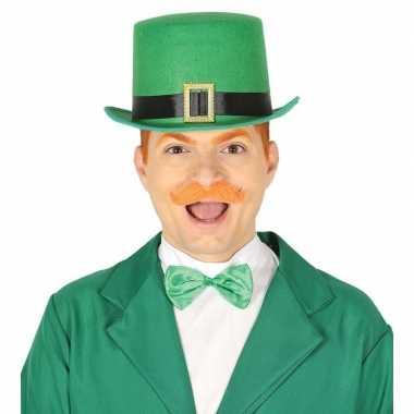 Groene st patricks day hoed vilt voor volwassenen