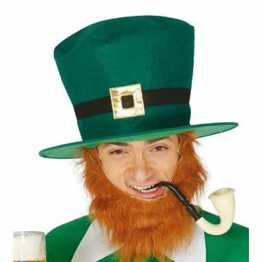Groene st patricks day hoge hoed voor volwassenen