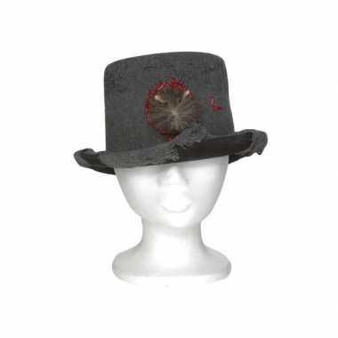 Heren hoed met rat 13 x 29 x h25 cm