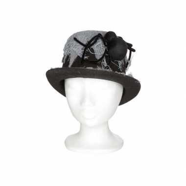Heren hoed met spin 13 x 29 x h25 cm