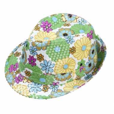 Hippie bloemen hoedje