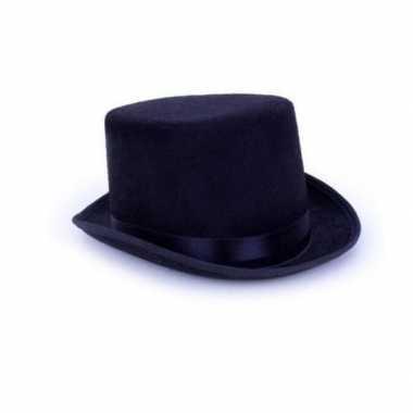 Hoge gothic horror zwarte hoed