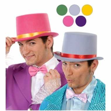 Hoge roode clowns hoed van vilt