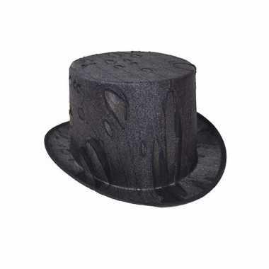 Horror zwarte hoge hoed voor volwassenen
