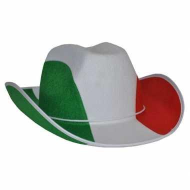 Italiaanse vlag cowboyhoed hoed