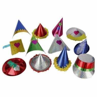 Klein papieren verjaardaghoedje hoed