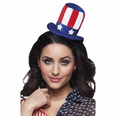 Mini hoedje amerikaanse vlag