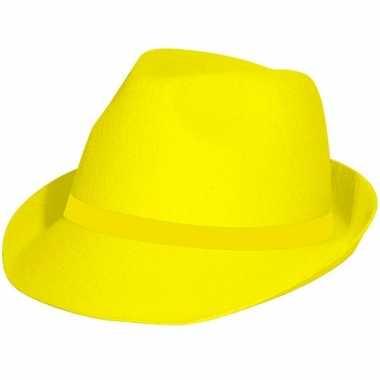 Neon gele hoedje voor volwassenen