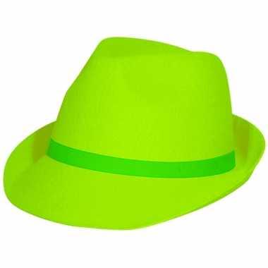 Neon groen hoedje voor volwassenen