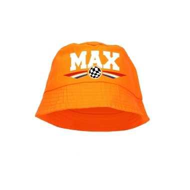Oranje max coureur supporter / race fan vissershoedje