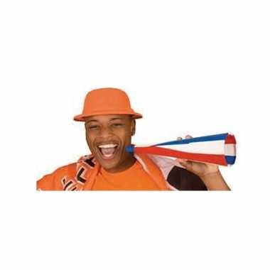 Oranje party hoedje van foam
