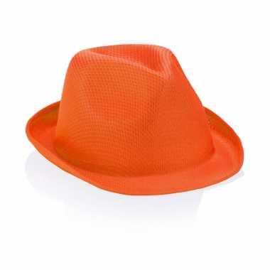 Oranje party hoedje voor volwassenen
