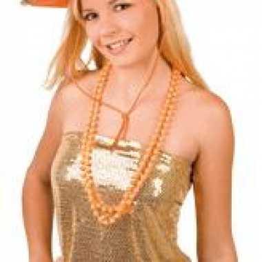 Oranje sheriff cowboyhoeden